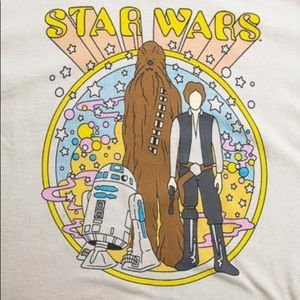 Star Wars R2D2 Chewbacca Han Solo Cream Retro Tee